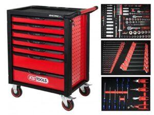 Tööriistakäru RACINGline must/punane + 215-osaline komplekt KS Tools Tööriistakärud
