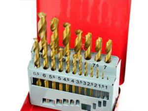 Metallipuuride komplekt 19-osaline 1-10mm Titanium kattega Puurid ja tarvikud
