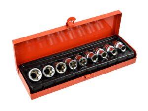 Torx padrunvõtmete komplekt E10-E24 CrV 1/2″ Võtmete komplektid