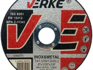 Lõikeketas metallile 125×1,6×22,2 VERKE Lõike- ja lamellkettad