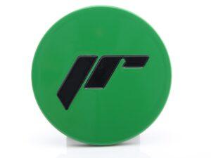 JR alumiiniumist veljekapsel 68mm Green Veljekapslid