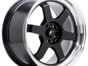 Valuvelg Japan Racing JR12 18×9 ET25 5×114/120 Gloss Black Machined Lip JR12