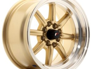 Valuvelg Japan Racing JR19 15×8 ET0 4×100/114 Gold Machined Lip JR19