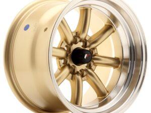 Valuvelg Japan Racing JR19 15×9 ET-13 4×100/114 Gold Machined Lip JR19