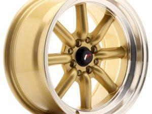 Valuvelg Japan Racing JR19 16×8 ET0 4×100/114 Gold Machined Lip JR19
