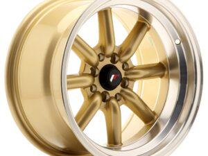 Valuvelg Japan Racing JR19 16×9 ET-15 4×100/114 Gold Machined Lip JR19