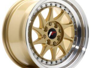 Valuvelg Japan Racing JR26 15×8 ET25 4×100/108 Gold Machined Lip JR26