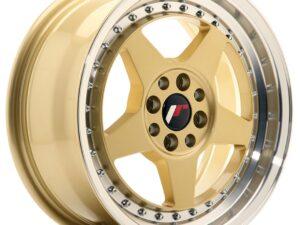 Valuvelg Japan Racing JR6 16×7 ET35 4×100/114 Gold Machined Lip JR6