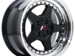 Valuvelg Japan Racing JR6 16×8 ET30 4×100/114 Gloss Black Machined JR6