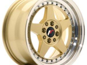 Valuvelg Japan Racing JR6 16×8 ET25 4×100/108 Gold Machined Lip JR6