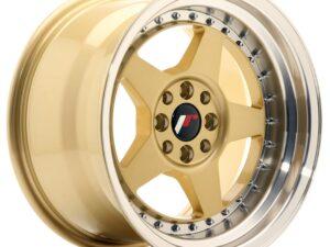 Valuvelg Japan Racing JR6 16×9 ET20 4×100/108 Gold Machined Lip JR6