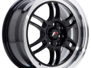 Valuvelg Japan Racing JR7 15×7 ET38 4×100/114 Gloss Black Machined Lip JR7