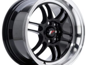 Valuvelg Japan Racing JR7 15×8 ET35 4×100/114 Gloss Black Machined Lip JR7
