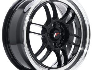 Valuvelg Japan Racing JR7 16×7 ET38 4×100/114 Gloss Black Machined Lip JR7