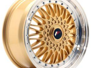 Valuvelg Japan Racing JR9 17×7,5 ET35 4×100/108 Gold Machined Lip JR9